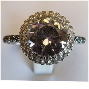 6ct White Sapphire Ring Size 10